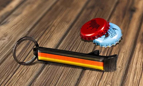 bottle opener keychain with German flag